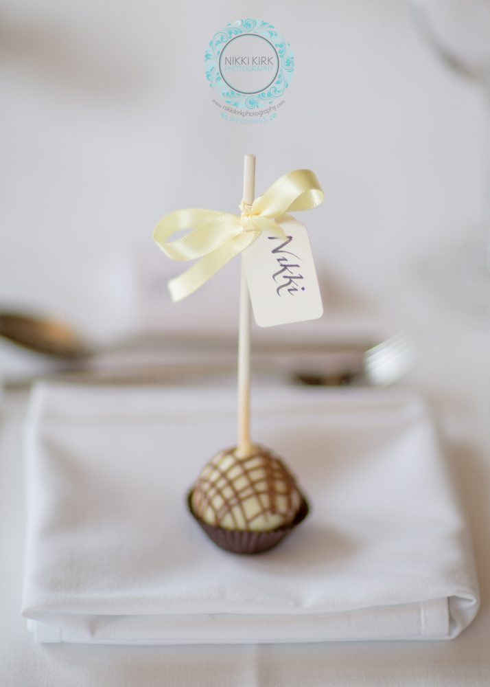 Cake Pops For Place Settings Nikki Kirk Photography