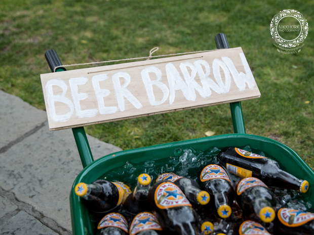 Wedding beer barrow