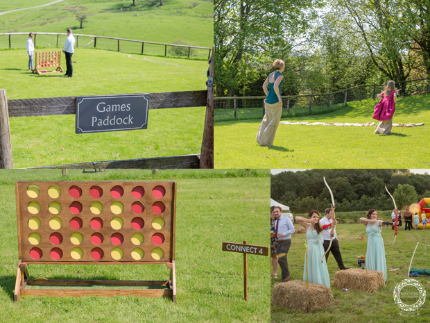 Lawn games at Kingscote Barn