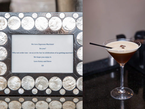 Bespoke wedding cocktails