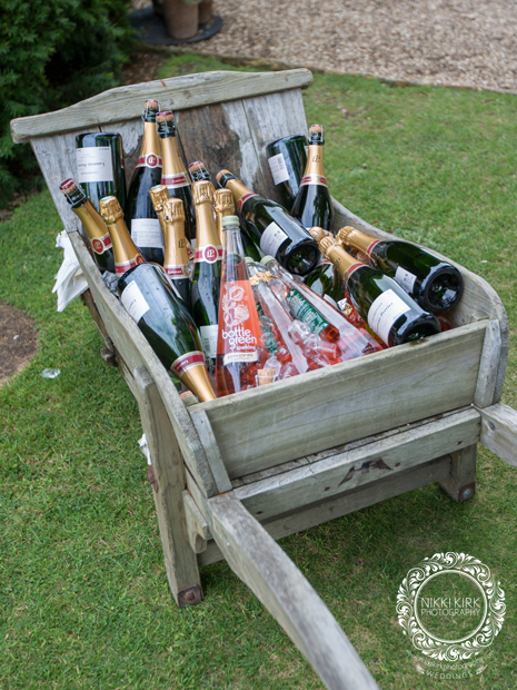 Champagne barrow wedding Sudeley Castle