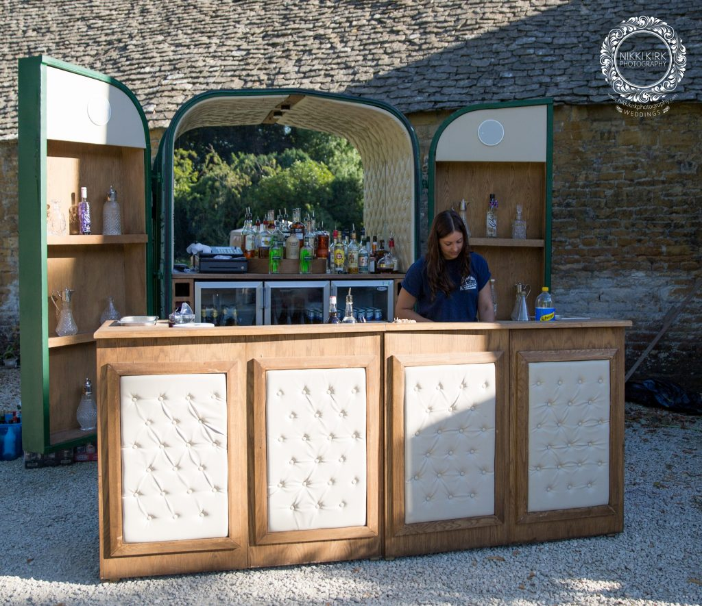 Trailer bar at Stanway House