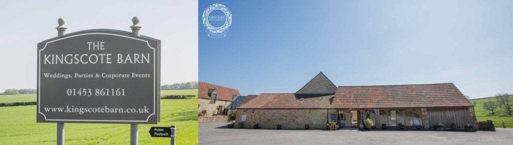 Kingscote Barn wedding photography