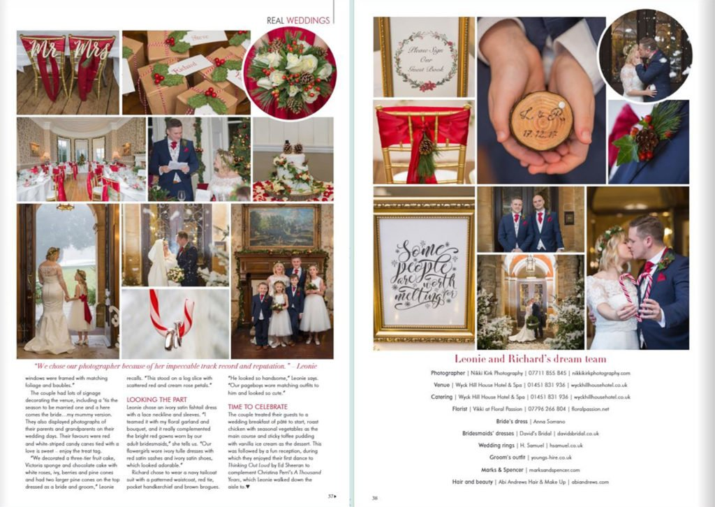 Christmas wedding Wyck Hill House