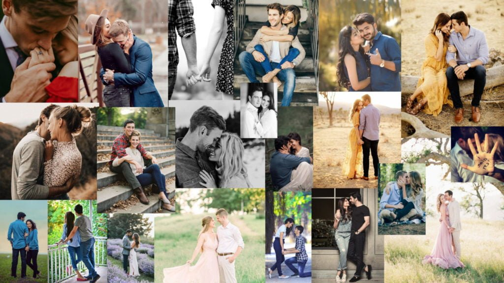 Engagement Photo Shoot Mood Board