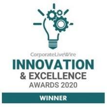 Innovation and Excellence award winner 2020 wedding photographer