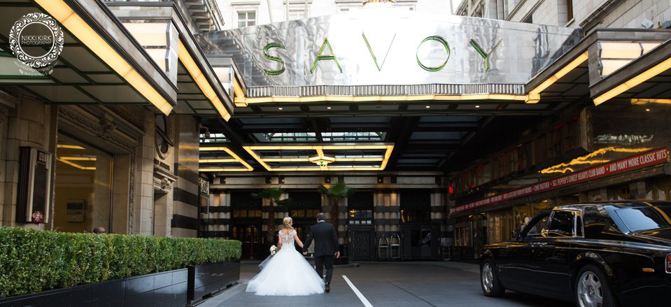 London Savoy Hotel wedding